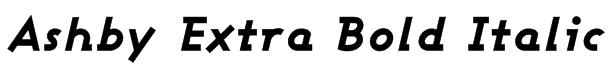 Ashby Extra Bold Italic Font