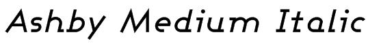 Ashby Medium Italic Font