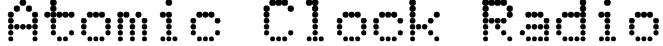 Atomic Clock Radio Font