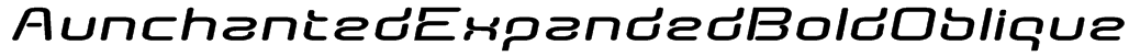 AunchantedExpandedBoldOblique Font