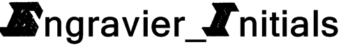 Engravier_Initials Font