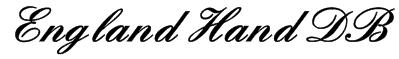 England Hand DB Font