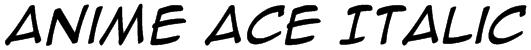 Anime Ace Italic Font