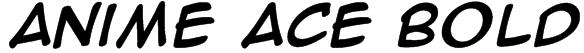 Anime Ace Bold Font
