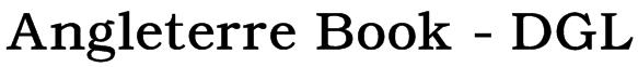 Angleterre Book - DGL Font