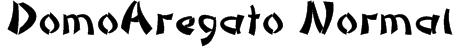 DomoAregato Normal Font