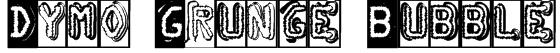 Dymo Grunge Bubble Font