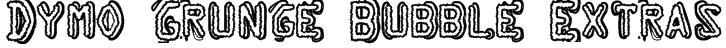 Dymo Grunge Bubble Extras Font