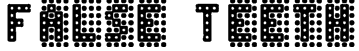 False Teeth Font