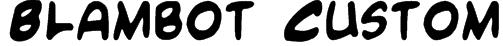 Blambot Custom Font
