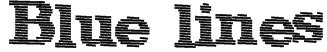 Blue lines Font