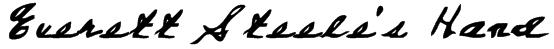 Everett Steele's Hand Font