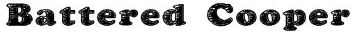 Battered Cooper Font