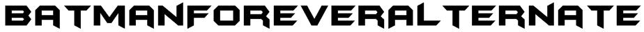 BatmanForeverAlternate Font