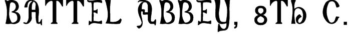 Battel Abbey, 8th c. Font