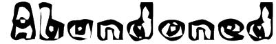 Abandoned Bitplane Font