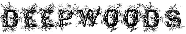 DeepWoodsInitials Font