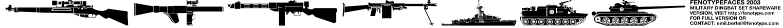 abc  Military dingbats fenotype Font