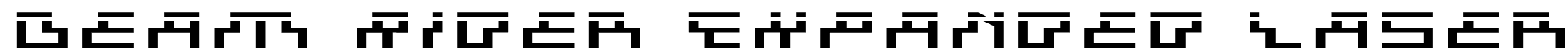 Beam Rider Expanded Laser Font