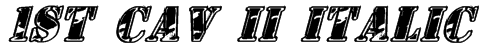 1st Cav II Italic Font