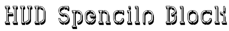 HVD Spencils Block Font