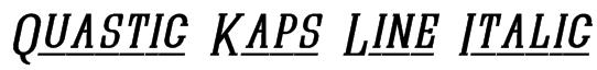 Quastic Kaps Line Italic Font