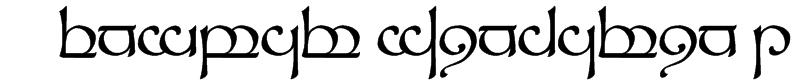 Tengwar Sindarin 1 Font