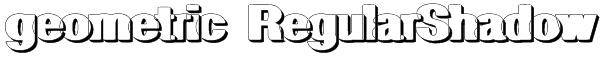 geometric RegularShadow Font