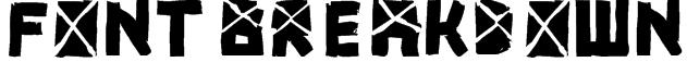 font breakdown Font