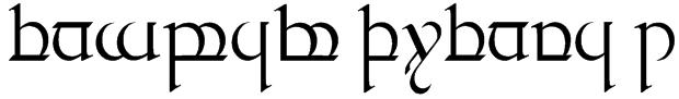 Tengwar Quenya 1 Font