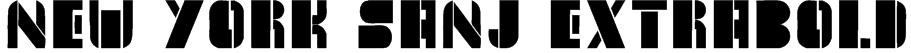 New York Sanj ExtraBold Font