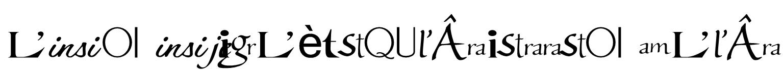LogosMylèneFarmerRegular Font