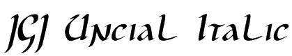 JGJ Uncial Italic Font