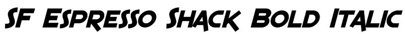 SF Espresso Shack Bold Italic Font