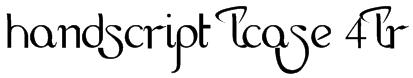 HandScript LCase 4LR Font
