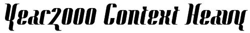 Year2000 Context Heavy Font