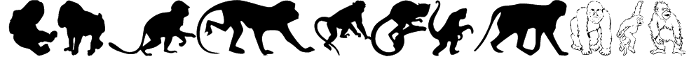 MonkeysDC Primates Font