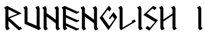 RUNEnglish 1 Font