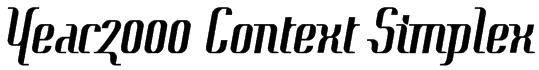 Year2000 Context Simplex Font