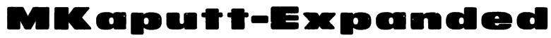 MKaputt-Expanded Font