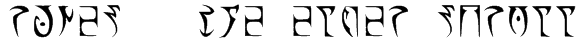 Runes - The elder scroll Font
