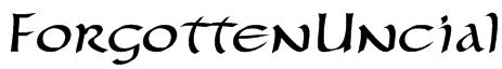 ForgottenUncial Font