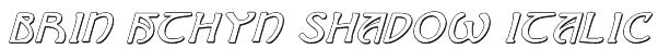 Brin Athyn Shadow Italic Font