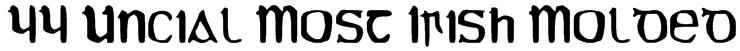 YY Uncial Most Irish Molded Font
