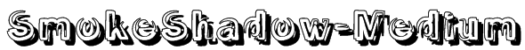 SmokeShadow-Medium Font