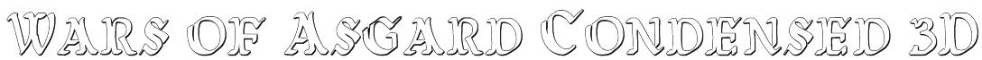 Wars of Asgard Condensed 3D Font