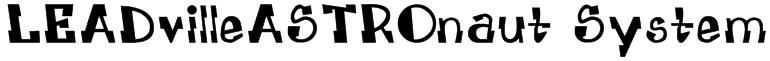 LEADvilleASTROnaut System Font