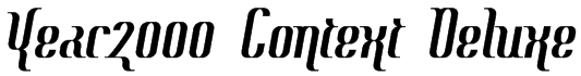 Year2000 Context Deluxe Font