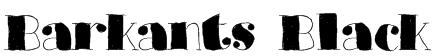 Barkants Black Font