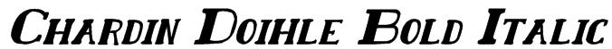 Chardin Doihle Bold Italic Font